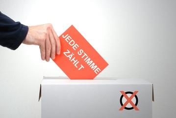 Gehen Sie wählen - Jede Stimme zählt!