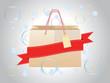 Shopping bag with ribbon