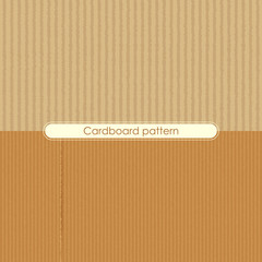 vector illustration of different cardboard texture