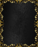 black background with gold pattern on the edges