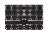 Black Decorative Card with Silver Pattern