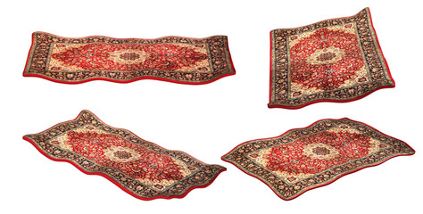 magic carpet isolated on the white background, set