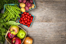 "Постер, картина, фотообои ""Fresh market fruits and vegetables"""