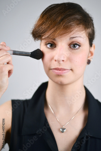 Woman preparing Makeup