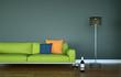 modernes grünes Sofa