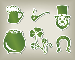Set of icon of St. Patrick's Day