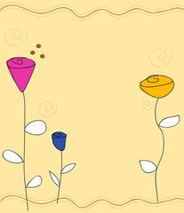 fondo fiori romantico
