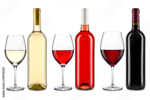 canvas print picture wine collection