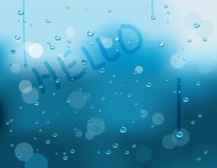Fondo lluvioso