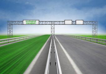 left green eco faster highway track