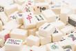 Mahjong board game pieces