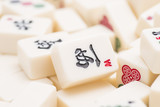 Mahjong board game pieces
