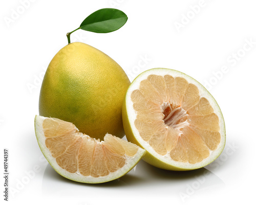 Sliced and Half Pomelo fruit