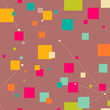 Abstract geometric seamless pattern with squares