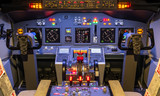 Cockpit of an homemade Flight Simulator - Boeing 737-800