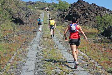 Course autour de l'Etna