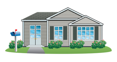 vector American house