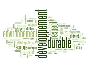 """Nuage de Tags """"DEVELOPPEMENT DURABLE"""" (écologie planète nature)"""