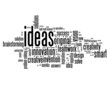 """IDEAS"" Tag Cloud (innovation smart solutions problem solving)"