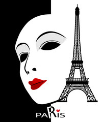 Paris cards as symbol love and romance travel