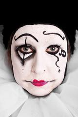 Portrait eines weiblichen Clowns