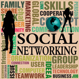Social networking concept poster
