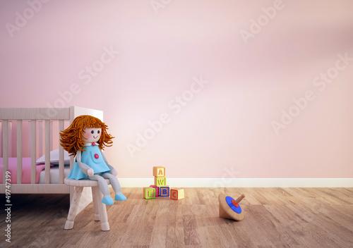 Papiers peints Mur chambre poupée