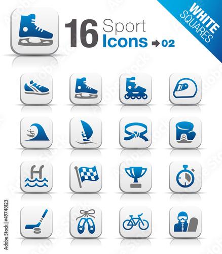 White Squares -  Sport icons