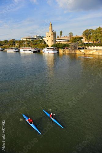Sevilla, Torre del Oro y río Guadalquivir