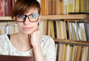 Women Portrait in Library