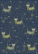 cats on a blue background