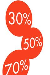 30%, 50%, 70%