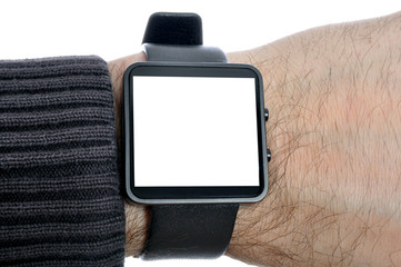 Smartwatch mit leerem Display