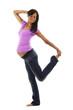 Schwangere Frau tanzt - Gymnastik