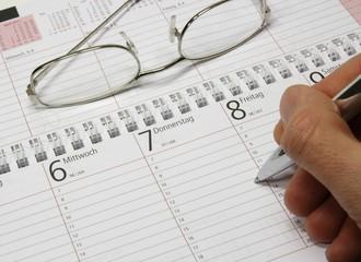 Kalender Stift Schreiben