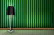 Floor Lamp green wall