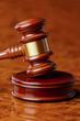 Richterhammer eines Richters bei Gericht