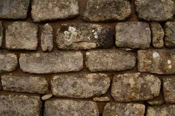 Background of stone wall texture Inca construction