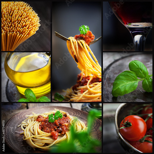 Naklejka Pasta collage