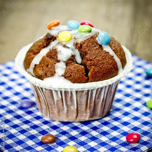 Muffin mit Schokolinsen