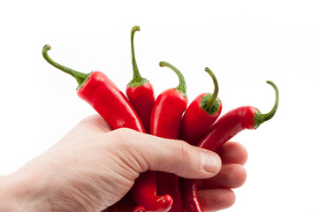 chilies hand
