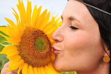 Sonnenblume küssen