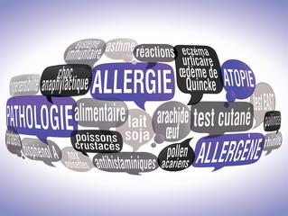 nuage de mots bulles ZOOM : allergie