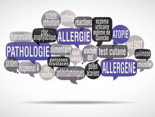 nuage de mots bulles : allergie