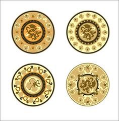 4 декоративных элемента