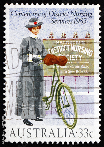 Postage stamp Australia 1985 District Nursing Service