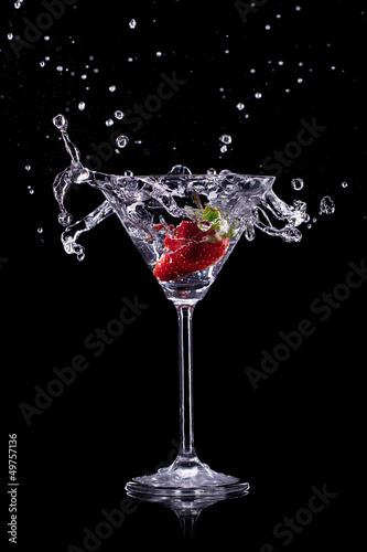 martini drink over dark background - 49757136