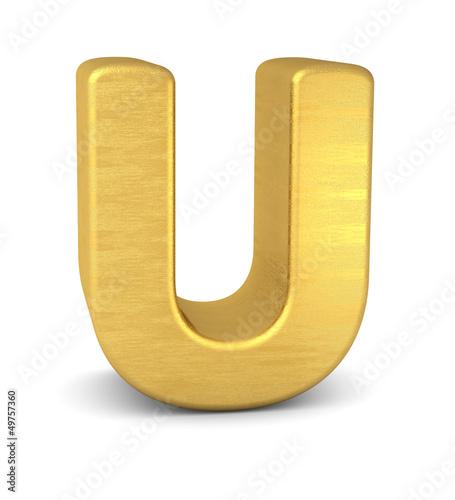 buchstabe letter U gold vertikal