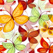 Seamless vivid  autumn pattern