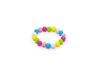 beads bracelet isolated on white